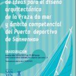 Exposición concurso ideas diseño arquitectónico da Praza do Mar e Porto deportivo. Sanxenxo