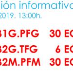 Reunión informativa para a finalización dos estudos en Boloña 1 e Boloña 2. B1.PFG – B2.TFG -B2.TFM