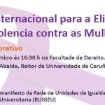25N: día internacional para a eliminación da violencia contra as mulleres